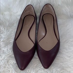Chloe burgundy pointy toe flats in size 39